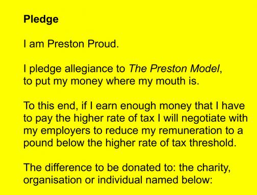 The Preston Pledge by Martin Hamblen