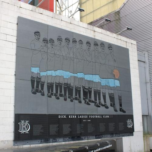 Dick Kerr Ladies memorial at Deepdale Stadium, Preston.