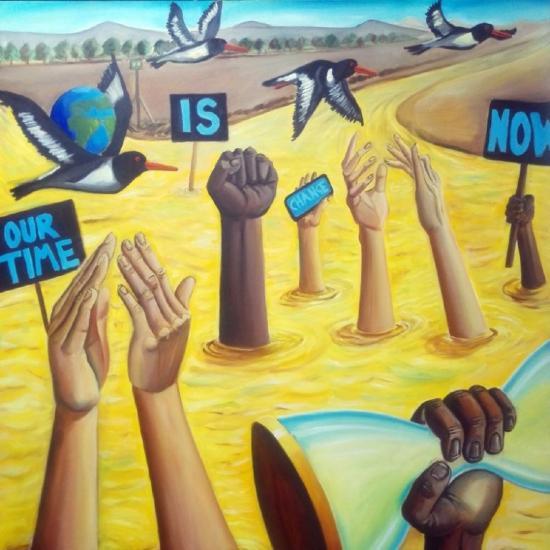 Bob Heath artwork depicting change, inspired by Black Lives Matter.
