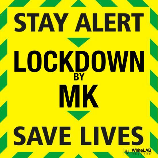 """White and green emergency alert poster reading """"Stay alert, Lockdown by MK, Save lives""""."""