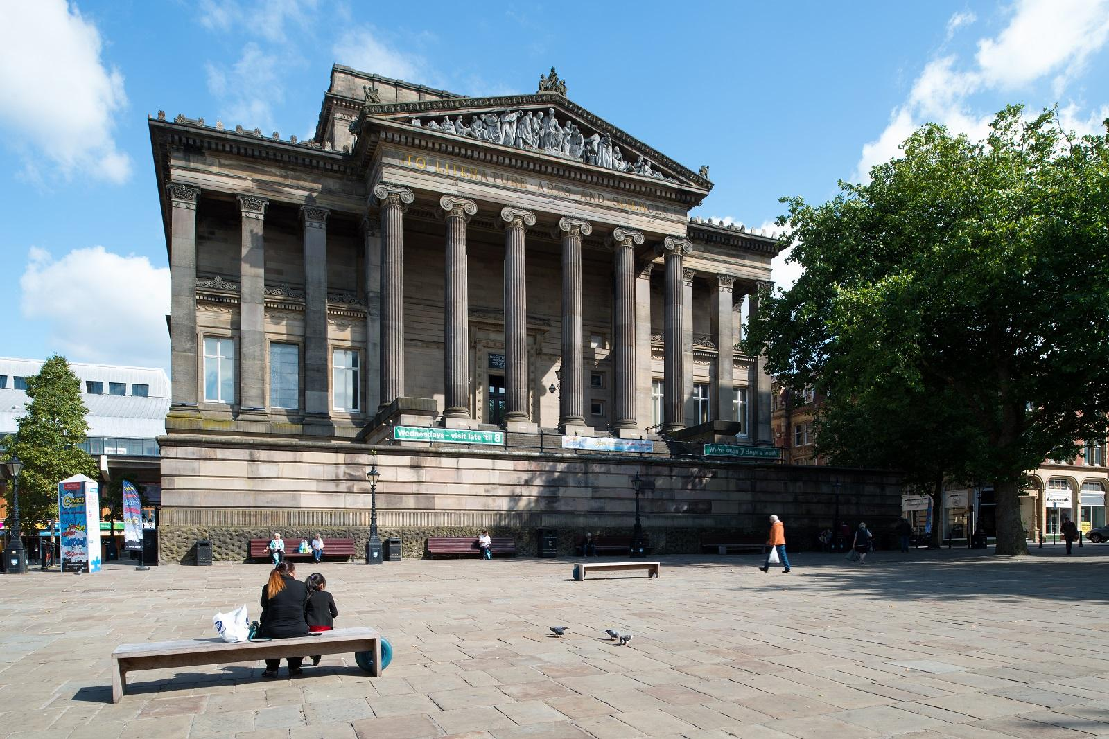 The front of the Harris Museum Preston